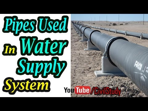 Types Of Pipes Used In Water Supply System - CI Pipe - Steel Pipe - GI Pipe - Copper Pipe - PVC Pipe