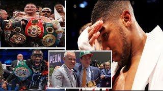 WBC & WBA MEET TO PUSH ANTHONY JOSHUA ASIDE FOR ANDY RUIZ JR vs DEONTAY WILDER UNDISPUTED FIGHT!!