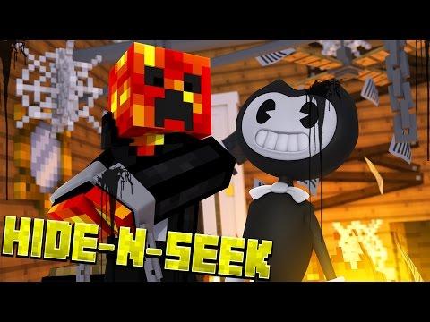 BENDY KIDNAPS PRESTON! Minecraft Bendy HIDE N SEEK