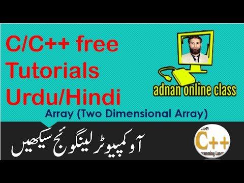 Two Dimensional Array in C/C++ in urdu/hindi|Free C++ Tutorials