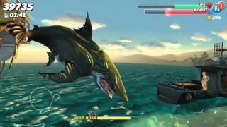 Hungry shark world- Megalodon gameplay
