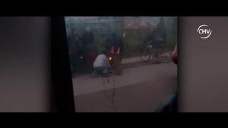 Mujer en riesgo vital tras quemarse a lo bonzo en la vía pública - CHV Noticias