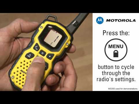 Silent Operation of Motorola Talkabout Two Way Radios - YouTube