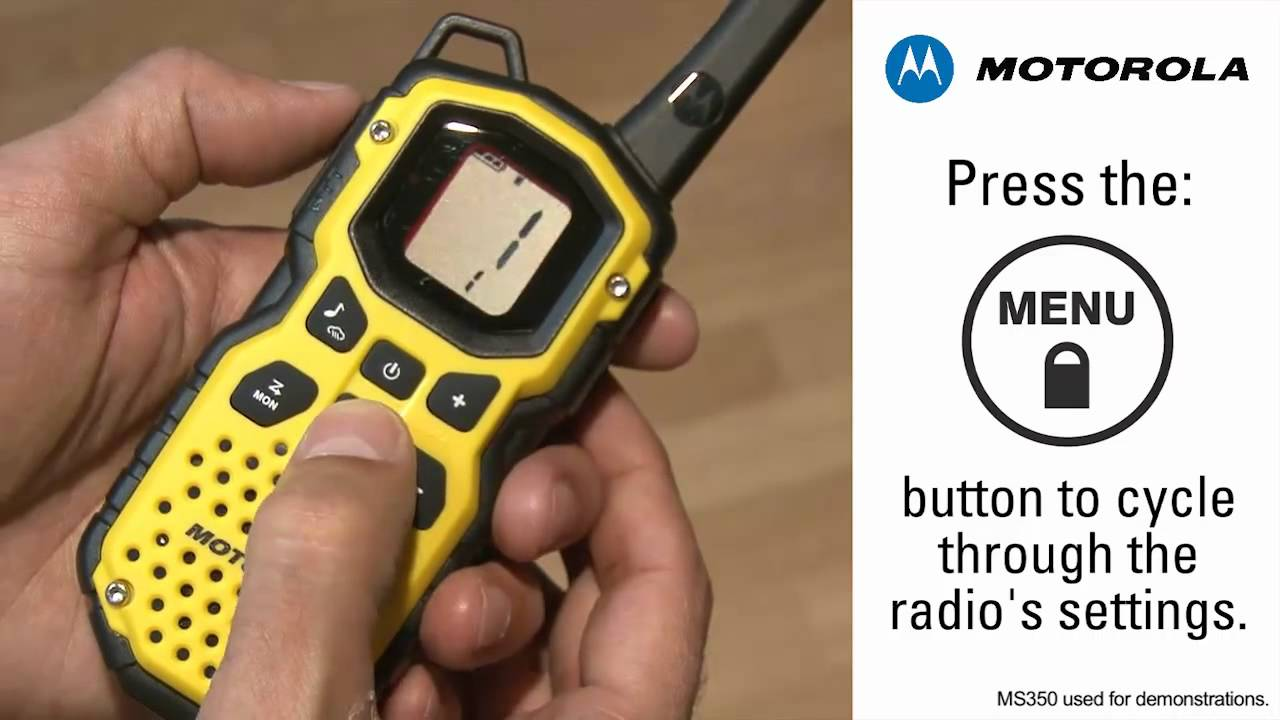 Silent Operation of Motorola Talkabout Two Way Radios
