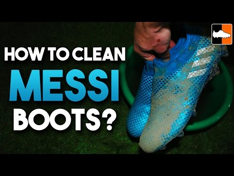 How to clean Messi 16 PureAgility Football Boots | adidas MESSI16+ Soccer Cleats