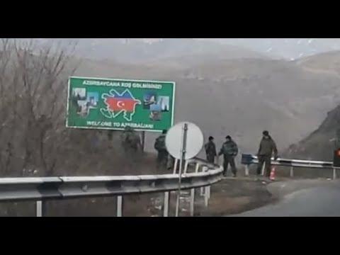 """Ordumuz Gorus-Qafan yolunu BAĞLADI: """"Azərbaycana xoş gəlmisiniz"""" yazılı lövhə erməniləri"""
