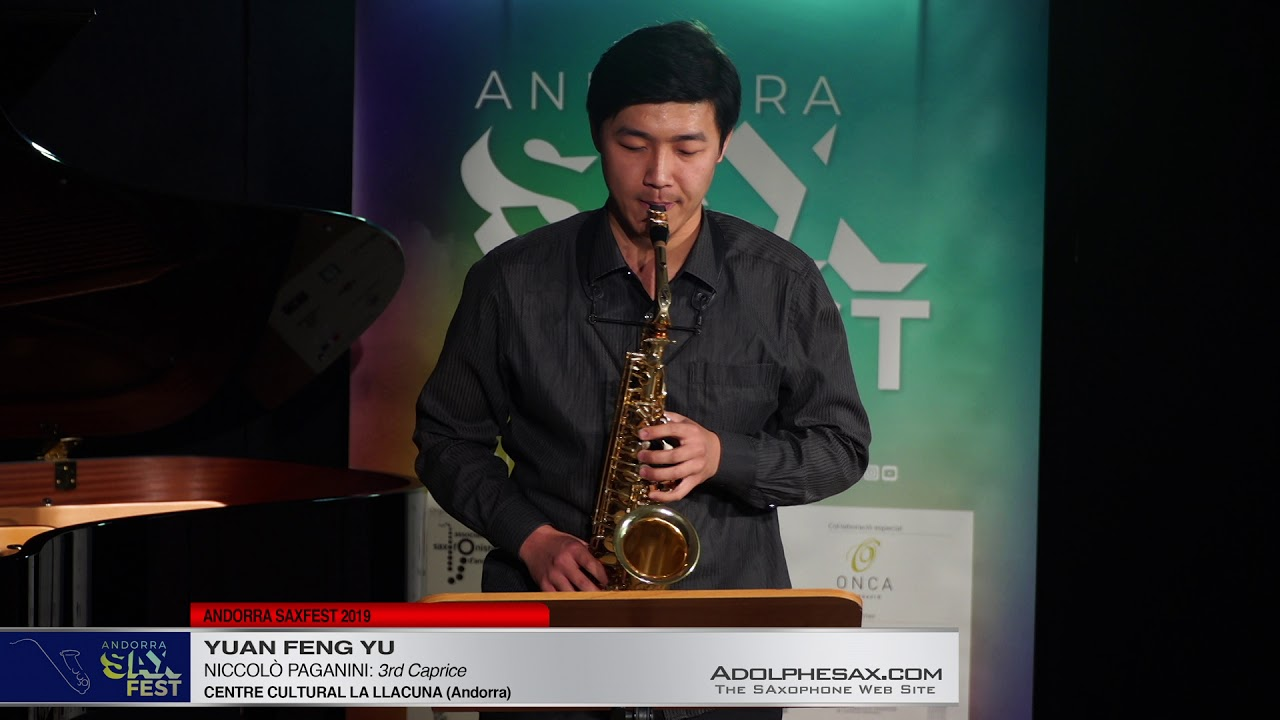 Andorra SaxFest 2019 1st Round   Yuan Feng yu   3rd Caprice by Niccolo Paganini