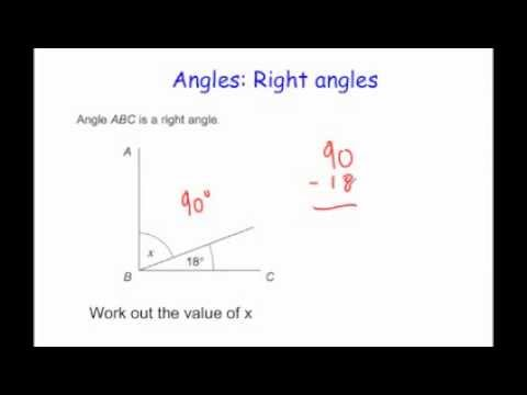 Angles in a Right Angle