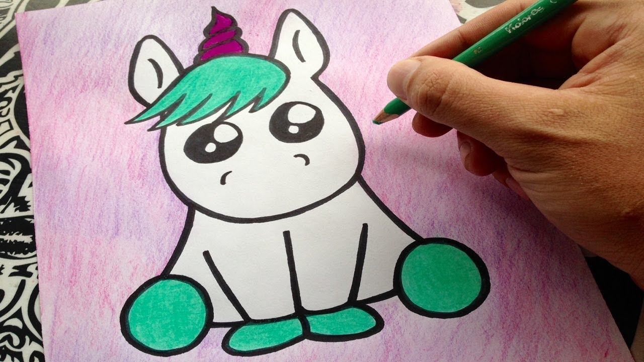 Como dibujar un unicornio how to draw a unicorn como for Imagenes de un estanque para colorear