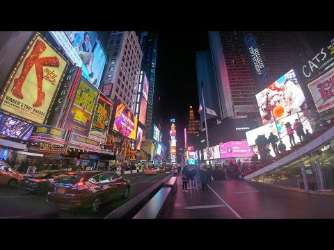 Times Square at Christmas 2017 featuring Disney, Justice League, Stranger Things & The Naked Cowboy