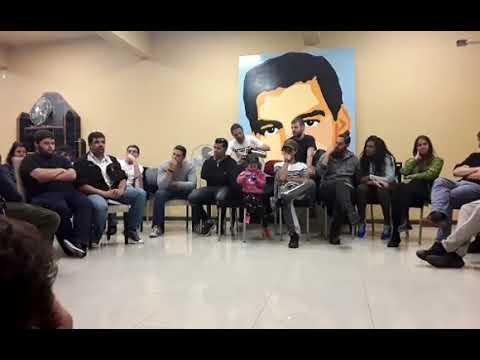 Encuentro de Oscar Andrade del PIT CNT con jóvenes Brasil, Uruguay y Cuba