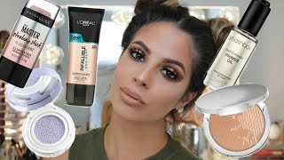 testing NEW Makeup First Impressions tutorial DRUGSTORE & HIGHEND