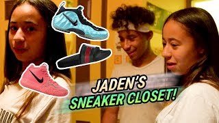 Jaden Newman Has A Better SNEAKER CLOSET Than Julian!? How Many Pairs Of GUCCIS!? 💰