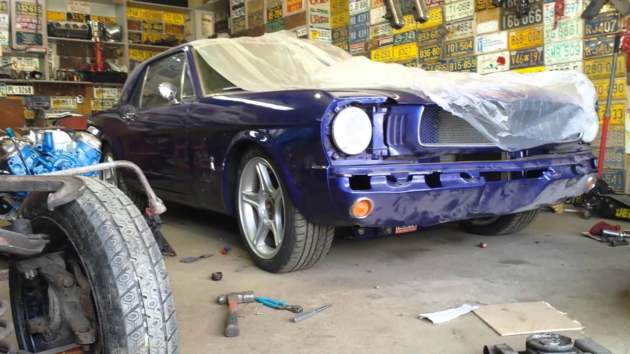 1965 Mustang: Lowered the front 2 inches