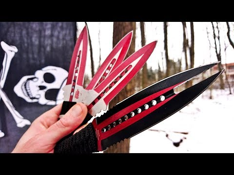 Mortal Kombat Throwing (Mystery Throwing Knives Unboxing/Test)