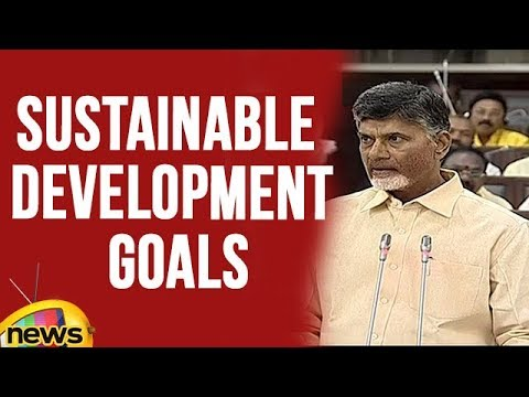 AP CM Chandrababu Naidu about Sustainable Development Goals in Assembly | Mango news