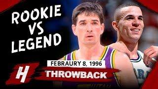 Rookie Jason Kidd vs John Stockton EPIC PG Duel Highlights (1996.02.08) - MUST WATCH!