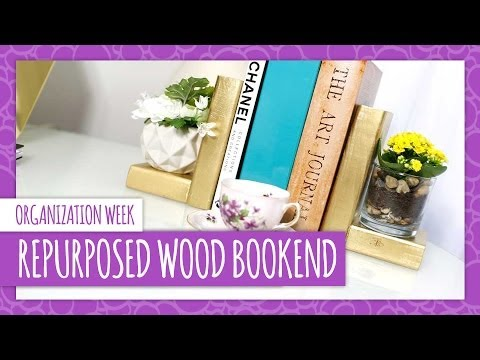 DIY Repurposed Wood Bookend - HGTV Handmade