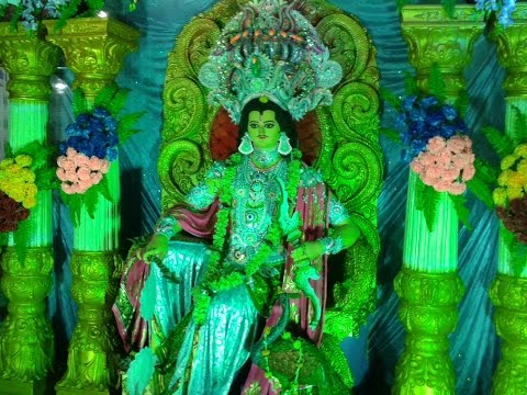 Excellent Pandal with Colorful Flower Decoration in Kartik Puja, Bansberia, Hooghly