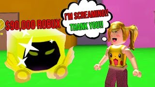 I Gave Her The GOLDEN DOMINUS PET And She SCREAMED! (Roblox Pet Simulator