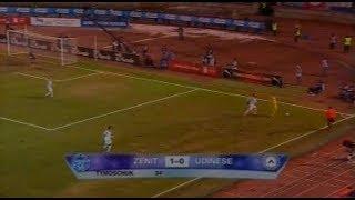 Зенит 1 0 Удинезе Кубок УЕФА 2008 2009 1 8 финала