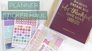 Esty Planner Sticker Haul // Sticker Pixie, Made By Elissa, Just Scrap It // Rachael Jade