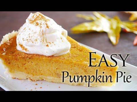 Easy Pumpkin Pie Recipe (Easy Crust)【簡単!】パンプキン ...