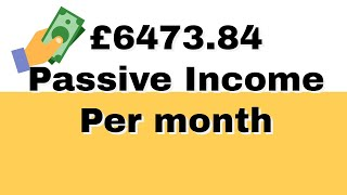 Passive income UK - £6,000+ per month and how I earn it