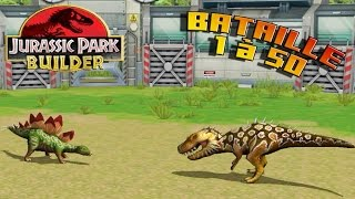 Jurassic Park Builder - BATAILLE 1 à 50 - ASTUCES POUR TOUS LES DINOSAURES - royleviking [FR HD] thumbnail