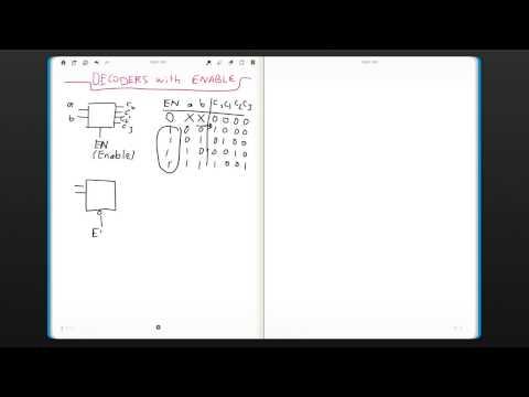 Decoder with Enable (EGR 190: Digital Circuits, week 8 #3)