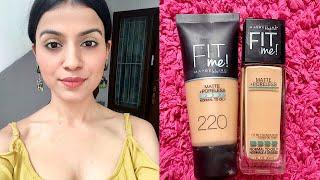 Maybelline Fit Me vs Fit me Natural Buff vs Natural Beige for Indian Medium Olive Skin Tone
