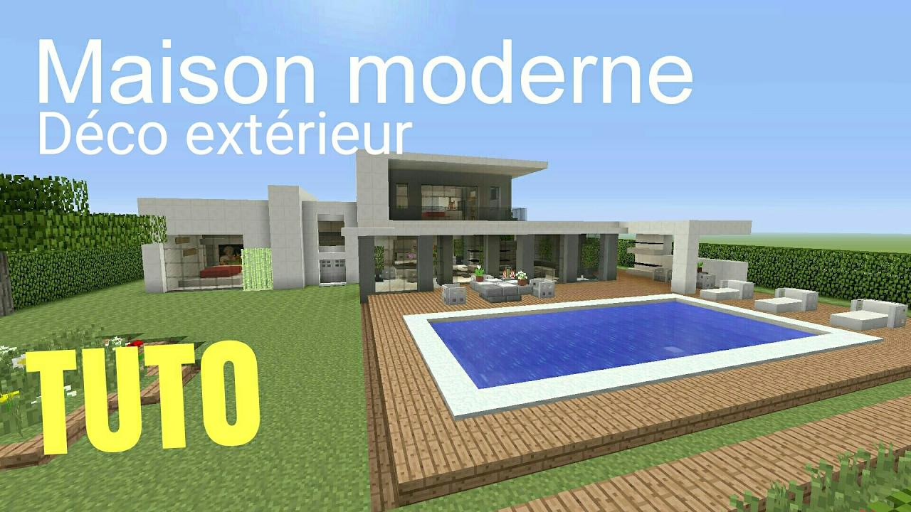 Great Tuto Minecraft Maison Moderne Dco Extrieur Ps With Minecraft Maison  Ultra Moderne