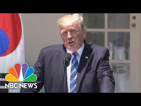 Watch Live: Donald Trump, South Korean President Moon Jae-in Deliver Joint Statements | NBC News