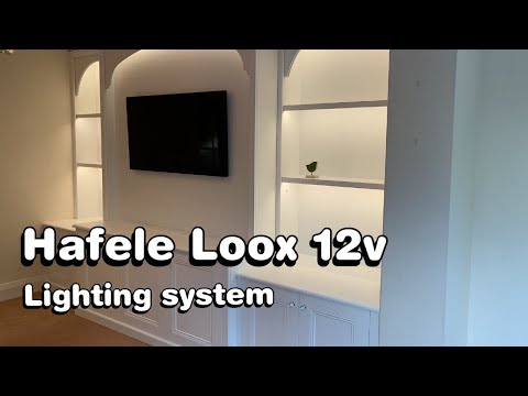 Large Media Unit featuring the Hafele Loox 12v Lighting System