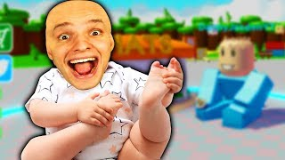 We become the STRONGEST baby of the WORLD and BEAT everyone! (Roblox)