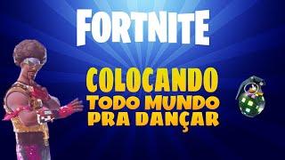 Fortnite:Colocando todo mundo pra dançar com a nova Bomba