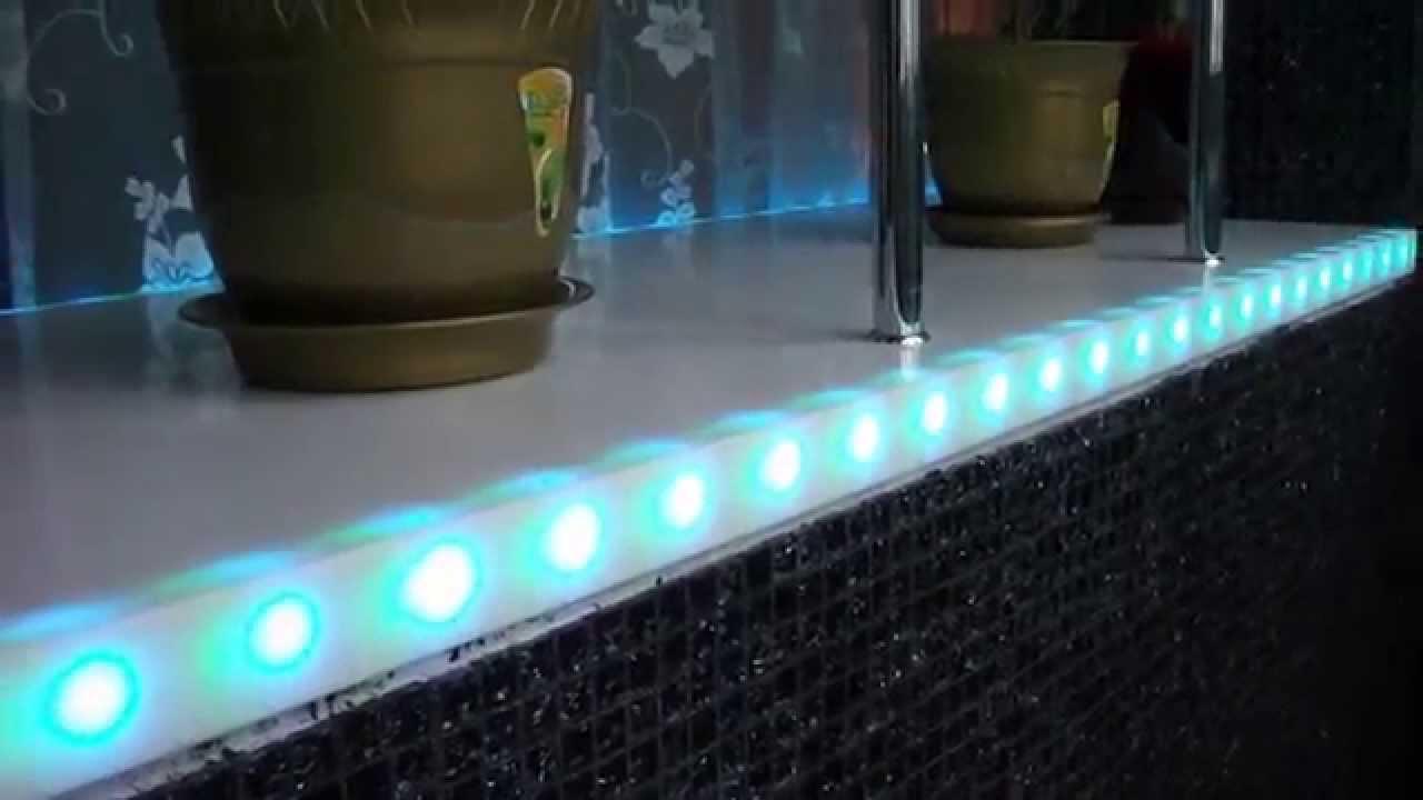 Столешницы из искусственного камня с подсветкой столешница торец влага