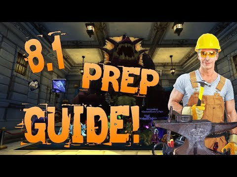 8.1 Gold Guide Prep! Blacksmithing & Mining #2 Bfa - 8.0