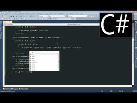 Sudoku Tutorial in C# .NET (Rekursives Backtracking) [001]