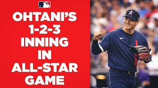3 UP, 3 DOWN! Shohei Ohtani starts All-Star Game with 1-2-3 inning! (Gets Tatis Jr., Muncy, Arenado)