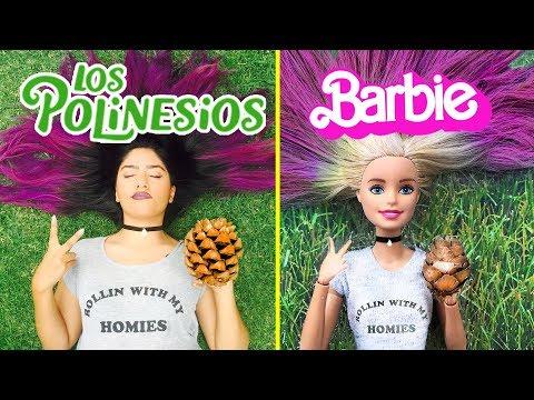 BARBIE imita fotos de LOS POLINESIOS - Lola Land 💜