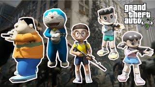 GTA 5 Mod - Team Doremon Nobita Chiến Đấu Đại Dịch Zombie