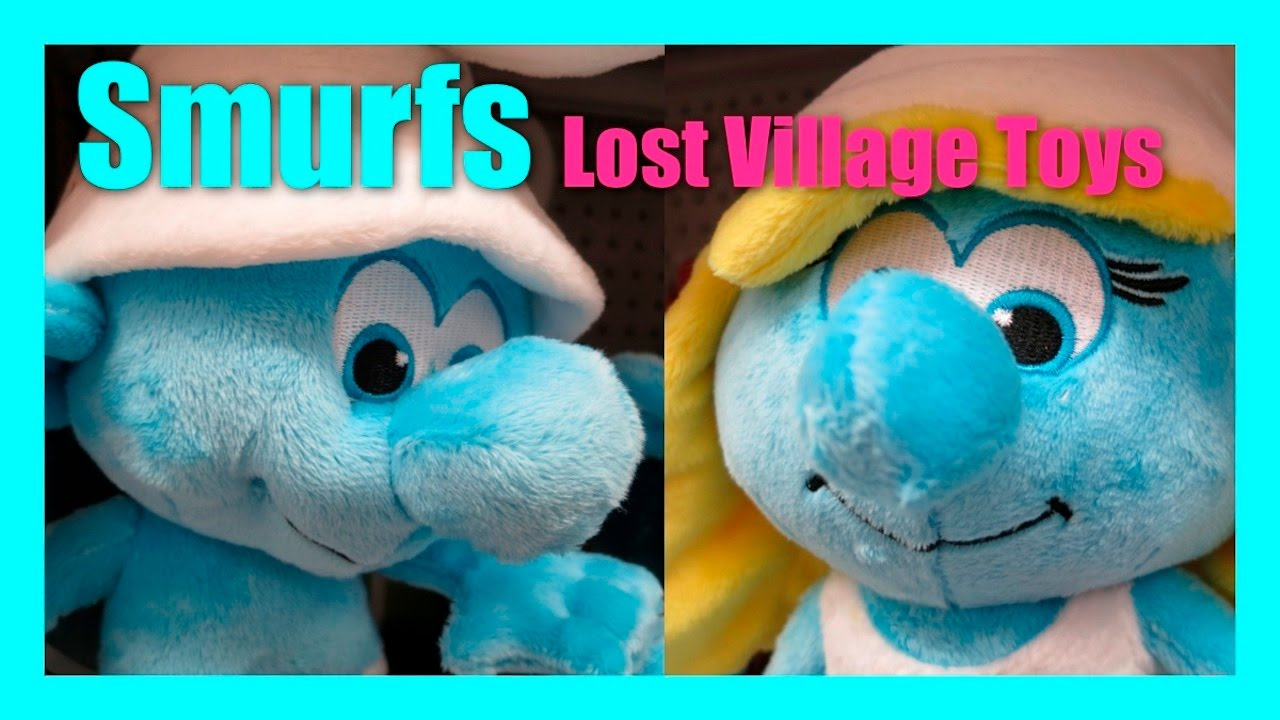 Smurfs the lost village toys clumsy smurf smurfette papa - Hefty smurf the lost village ...