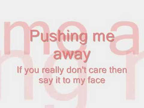 Pushing Me Away-Jonas Brothers LYRICS ON SCREEN!