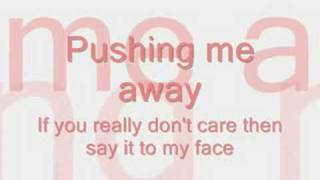 Pushing Me Away-Jonas Brothers LYRICS ON SCREEN!