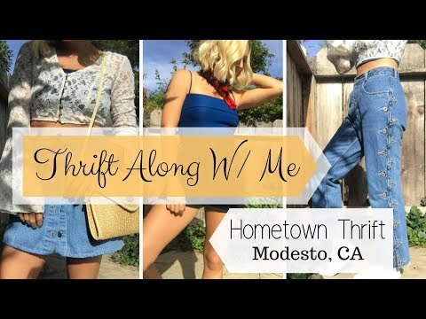Thrift Along W/ Me // Hometown Thrifting / Modesto, CA