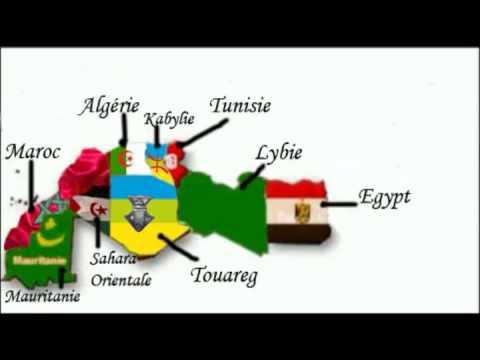خريطة شمال افريقيا  Carte de l'Afrique du Nord en 2011