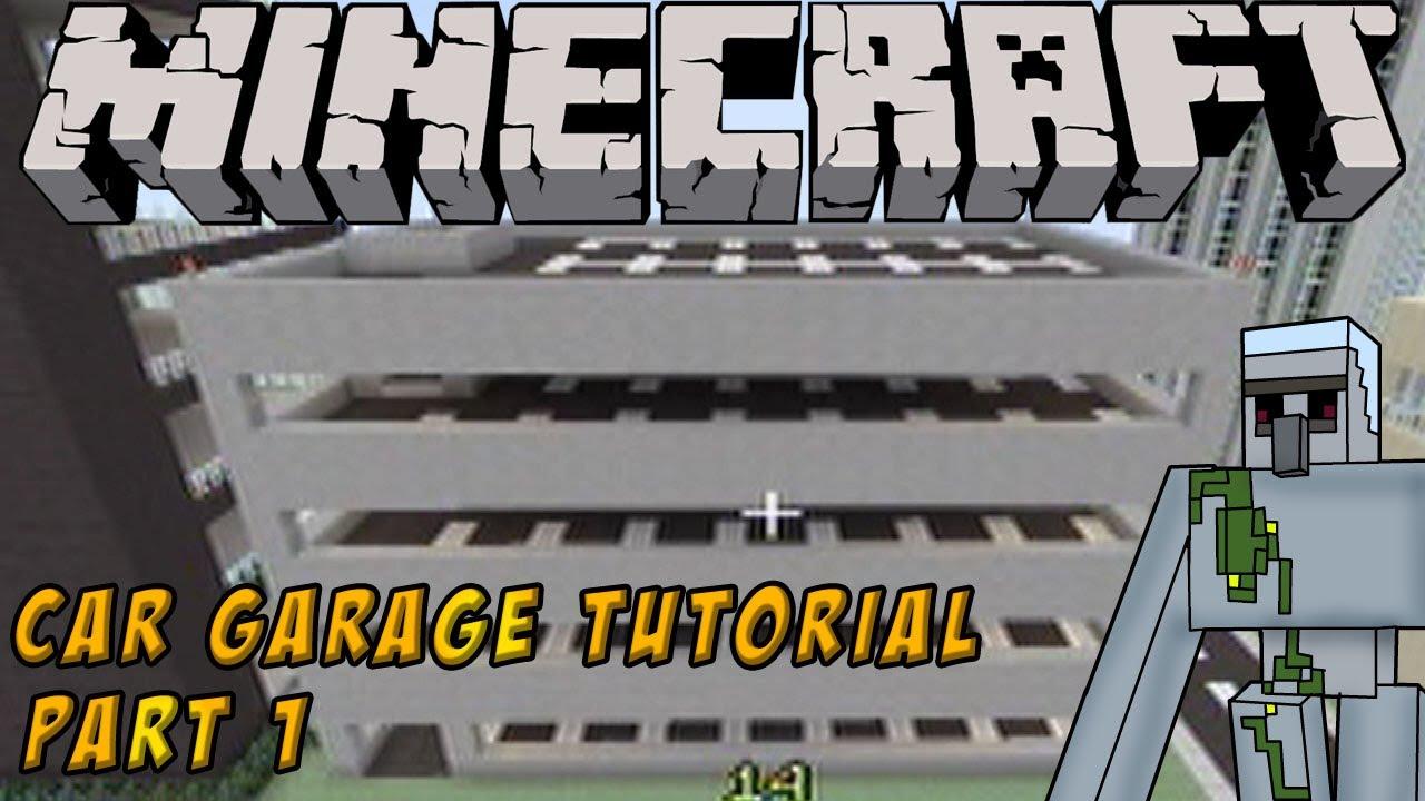 Garage Parking Stop >> Minecraft Tutorial: How to build a Parking Garage Part 1 ...