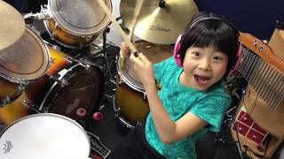 "よよかのドラム講座13 ""バスドラ頭抜き3連""   / ""YOYOKA"" Drum course #13  ""Head Without triplicate kick"" 8year old"