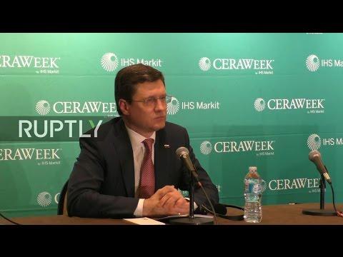 LIVE: Novak briefs press on sidelines of CERAWeek conference in Houston